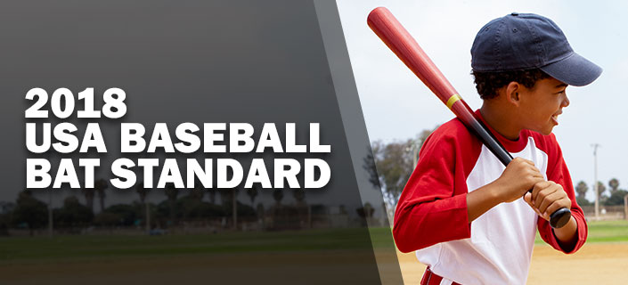 2018 USA Baseball Bat Standard - an image of a young baseball player holding a bat